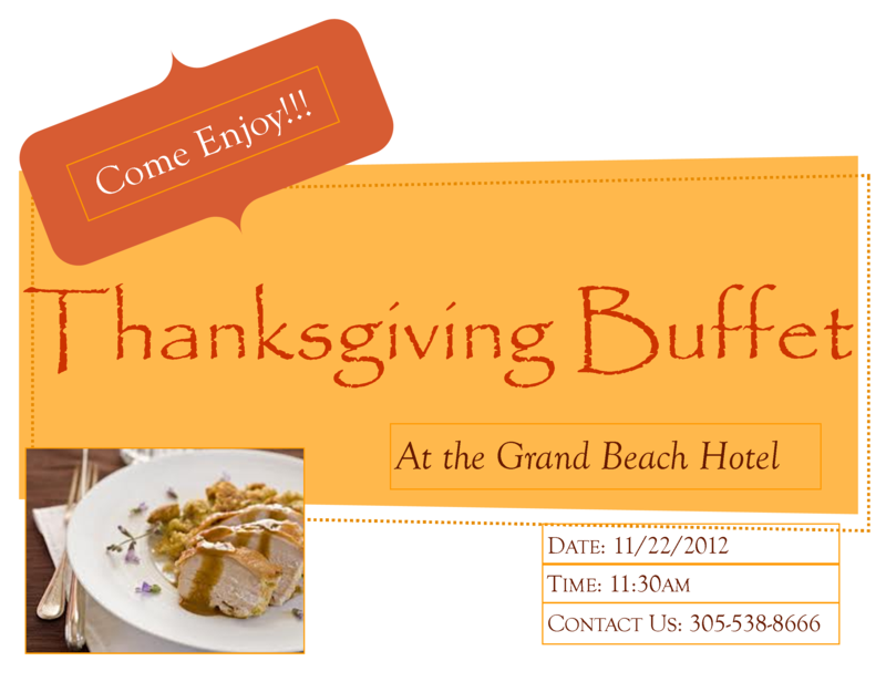 GBH thanksgiving buffet1