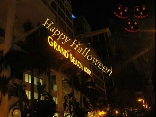 Grand Beach Hotel Happy Halloween