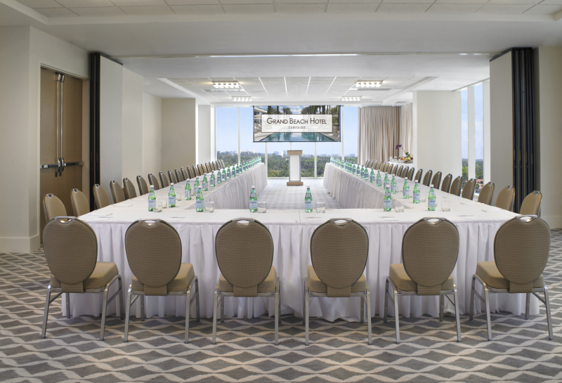 Grand Beach Hotel Surfside.Monet Meeting Room U-Shape