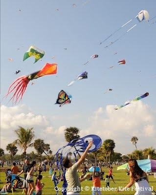 Kitetober Kite Festival Haulover Park Miami Florida Copyright