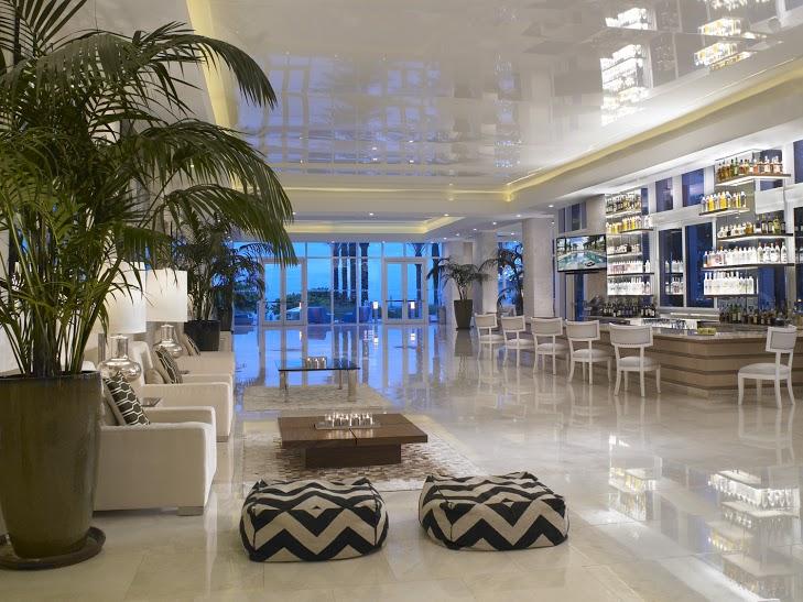 Grand Beach Hotel Surfside Lobby Magic Hour- Happy Hour