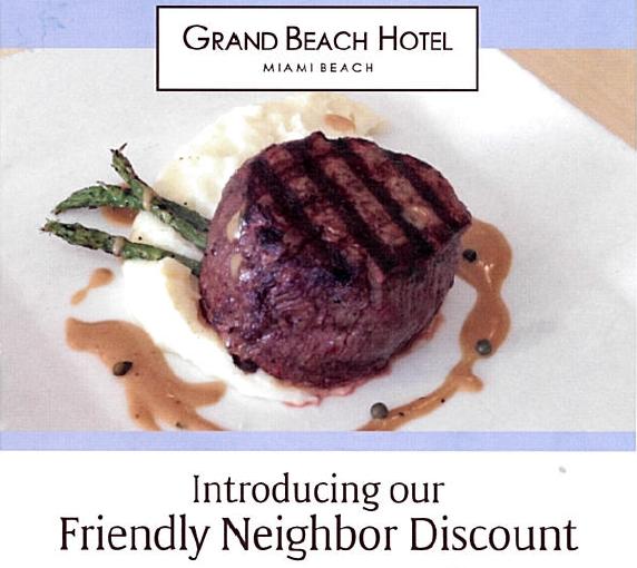 Grand Beach Hotel Miami. Neighbour Discount - Copy