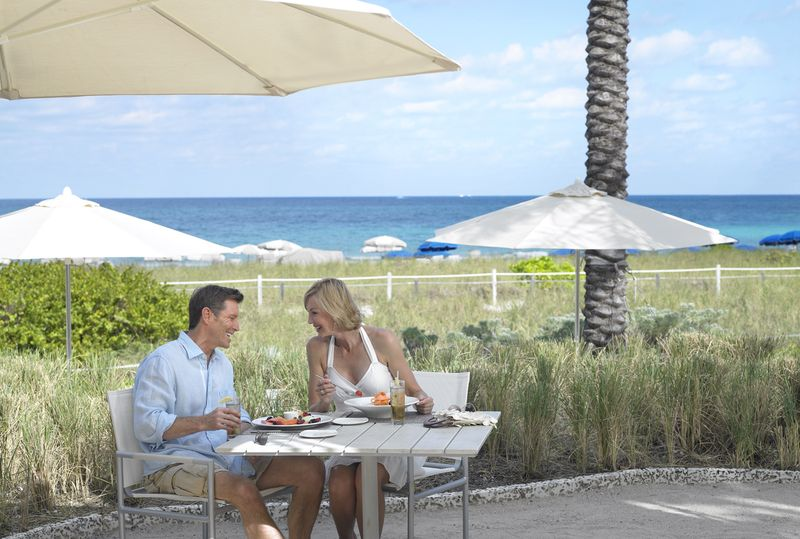Grand Beach Hotel Surfside. Outdoor dining.