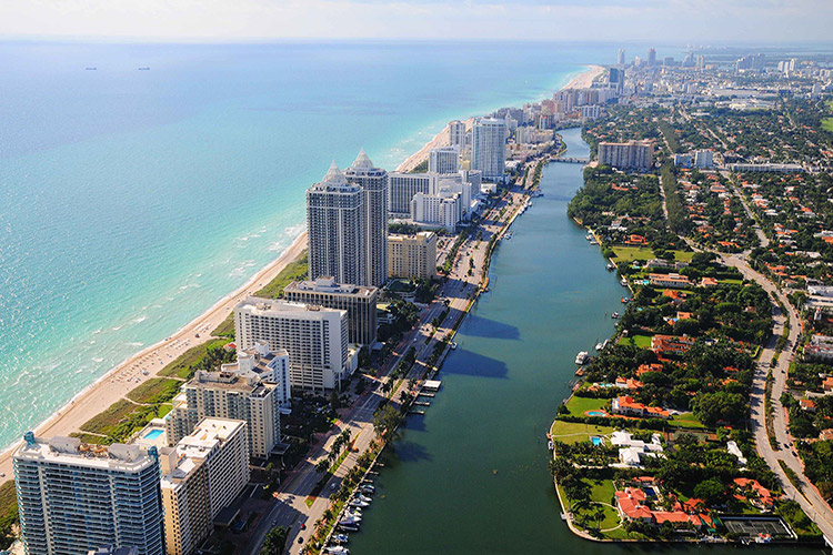 Miami Beach Aerial View