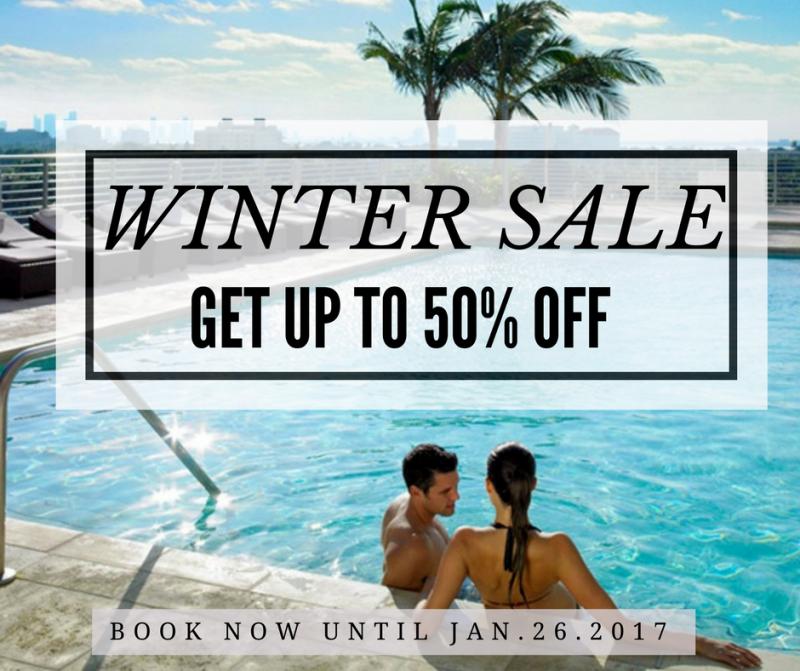 Grand Beach Hotel Miami. Winter Sale. 50% OFF