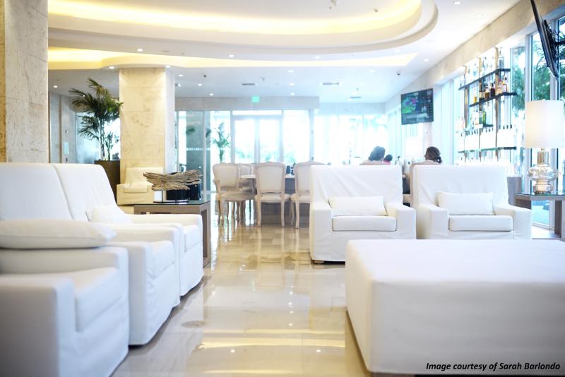 Grand Beach Hotel Miami. Lobby Bar area by Sarah Barlondo