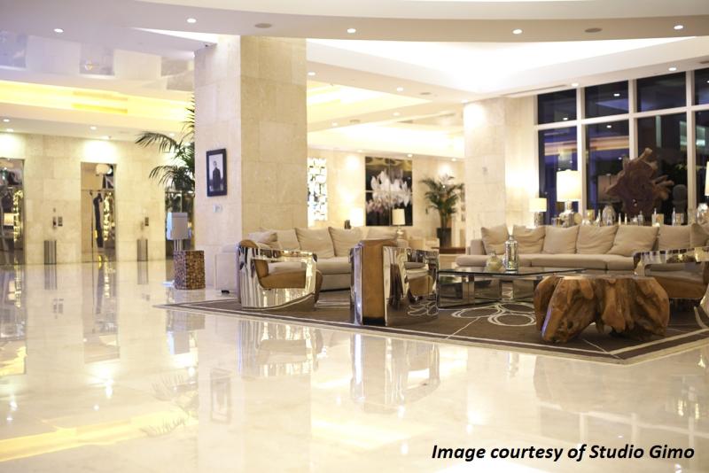 Grand Beach Hotel Surfside. Lobby Area by Sarah Barlondo
