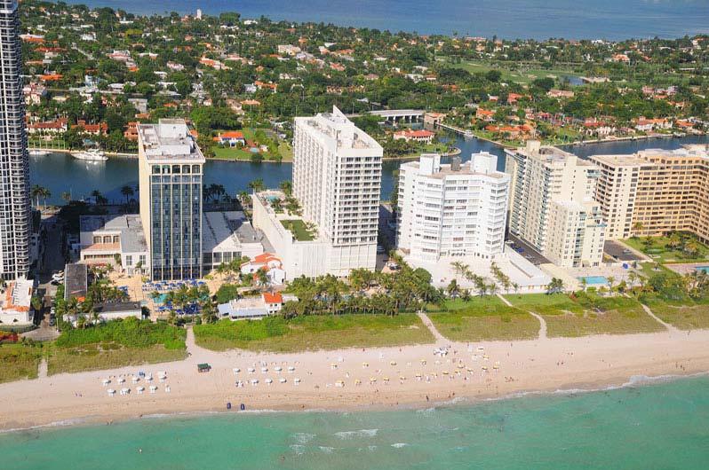 Grand Beach Hotel Aerial View. Miami Beach