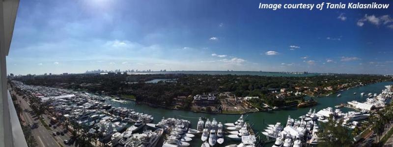 Yachts Miami Beach Show. Grand Beach Hotel Miami.Tania Kalasnikow